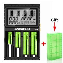 Joinrun S4 バッテリー充電器液晶画面インテリジェントリチウムイオン 18650 14500 16340 26650 AAA AA DC 12V スマートバッテリ充電器
