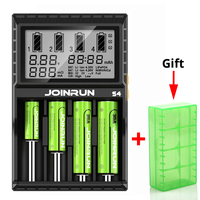 Joinrun S4 Battery Charger LCD Screen Intelligent Li Ion 18650 14500 16340 26650 AAA AA DC
