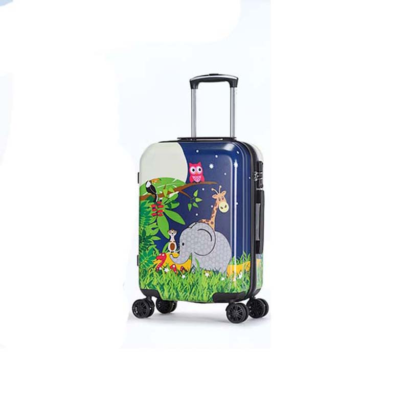 314d847a948c BeaSumore Cute Cartoon Children Rolling Luggage Spinner Travel Bags Kids  Suitcase Wheels Trolley 19 20