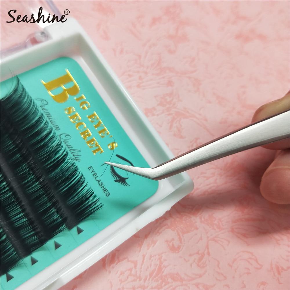 Seashine Eyelash Tweezers Anti static Stainless Steel 3D 6D Volume Lash Tweezer For Eyelash Extension free shipping in Eyebrow Tweezers from Beauty Health