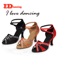 IDancing rhinestone latin dance shoes mesh air party shoes three colors avaialbe zapatos baile latino mujer pointe shoes ballet