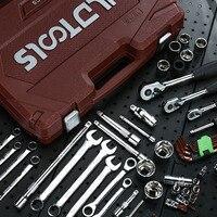 YINGLONGDAO 216Pcs 72 Teeth Multifunctional Sleeve Bushing Ratchet Wrench Auto Repair Kit Combination Set Hand Tools