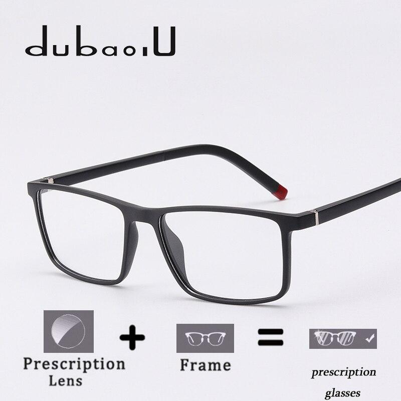 90db2a597 TR90 Prescrição Óculos Homens Óculos de Prescrição Óptica Lente Multifocal  Progressiva Photochromic Anti Azul Claro # MZ04-01