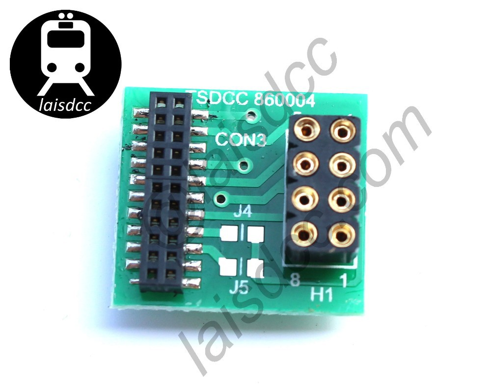 10PCS DCC 21pin to 8pin adaptor/converter. For locos with 21-pin sockets to use an 8-pin decoder 860004/LaisDcc Brand
