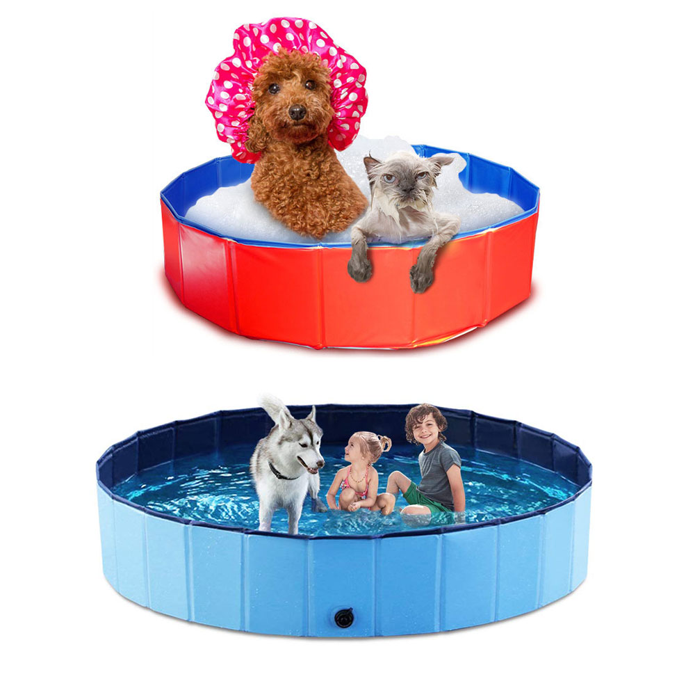 Foldable Pet Pool Bathing Swimming Cooling Cat Dog Puppy Bathtub Home Outdoor Water Pond Pool Kiddie