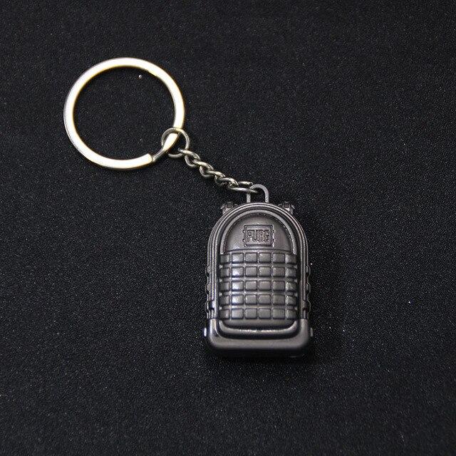PUBG Keychain Armor Bag Car Key Chain Helmet Pan Equipment Toys Keyring Fashion Jewelry FPS CS Game Fans Gift for Men Friends 5