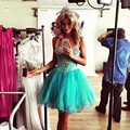 New Short A Line Backless Sweetheart Charming 8th Grade Prom Party Gowns Turquoise Homecoming Dresses 2017 With Beaded Sequined