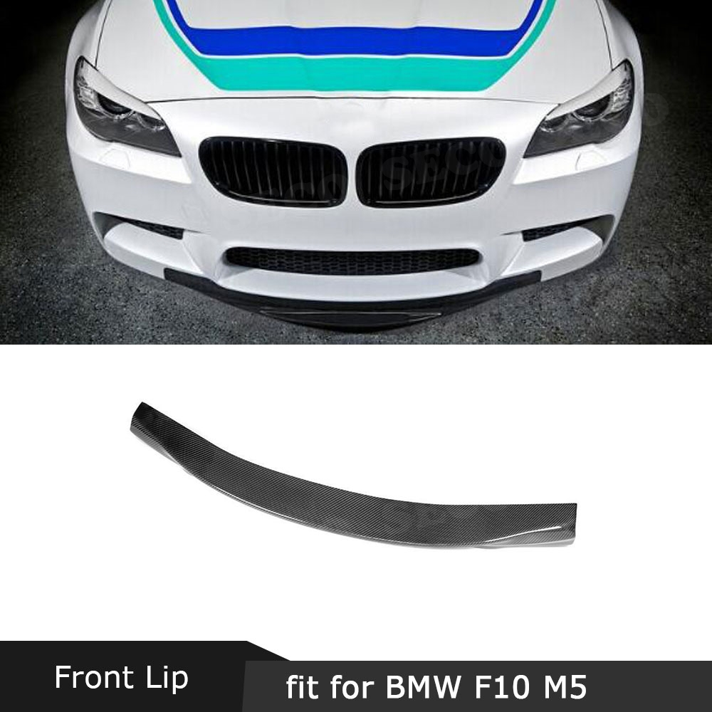 For <font><b>F10</b></font> M5 Carbon Fiber Front <font><b>Bumper</b></font> Lip Spoiler For <font><b>BMW</b></font> 5 Series <font><b>F10</b></font> M5 Original <font><b>Bumper</b></font> 2012 - 2016 Car Styling image