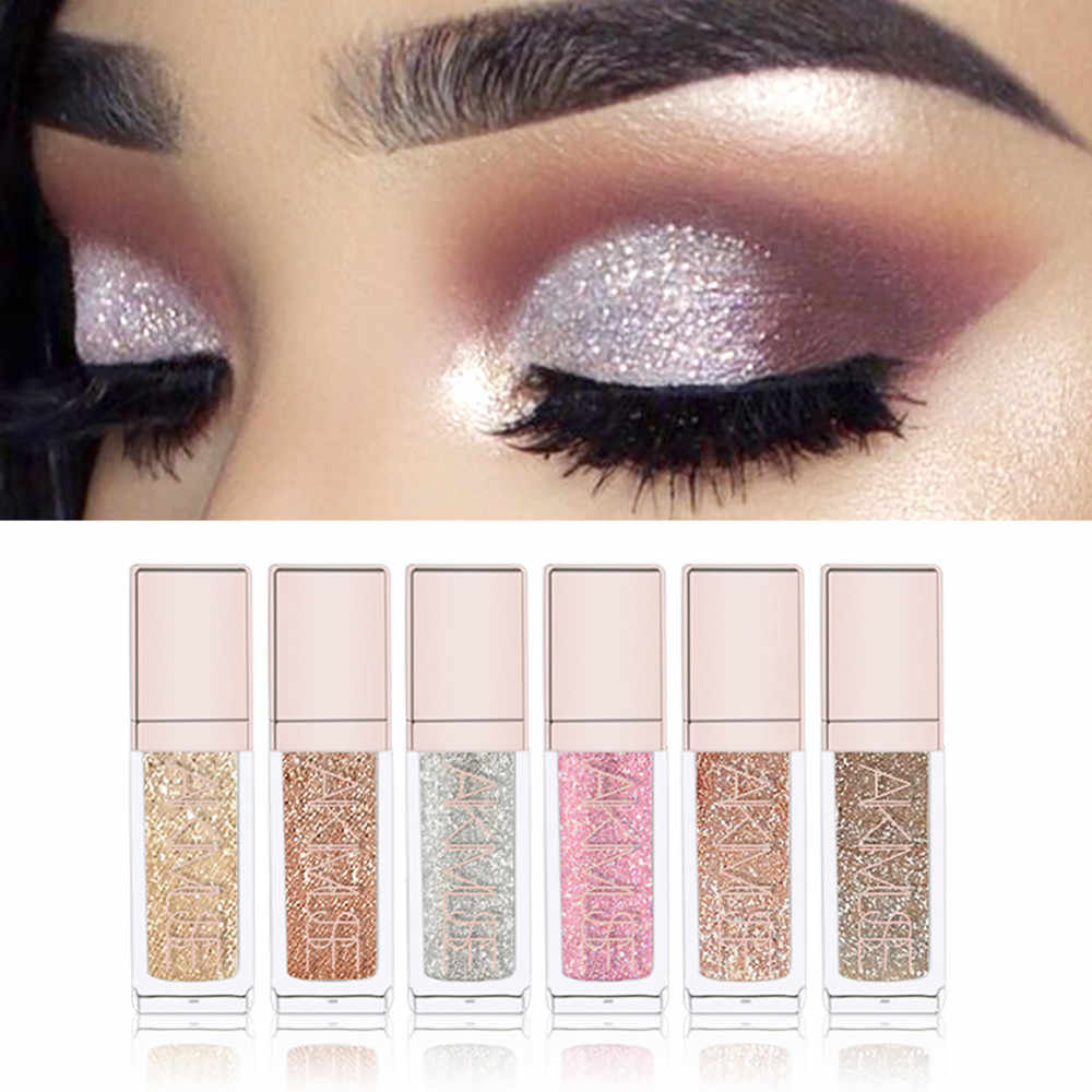 Baru Fashion Flash Berlian Mutiara Glitter Eyeliner Cair Mata Eyeshadow Makeup Alat Kecantikan Eye Alat
