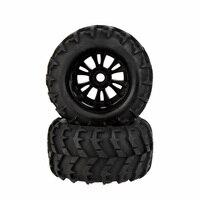 2Pcs RC 1/8 Car Wheel Rim and Tire 810006 for Traxxas Tamiya HPI Kyosho RC Car