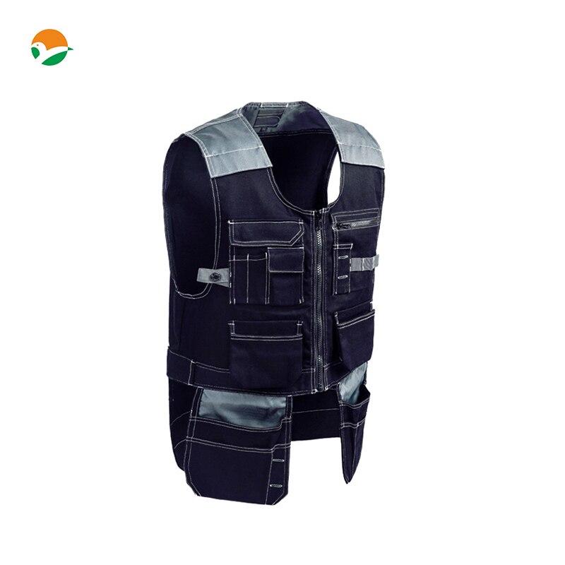 High Quality Multi pockets vest Durable workwear carpener Work Vest mechanic workwear outdoor vest tool vest free shipping цена