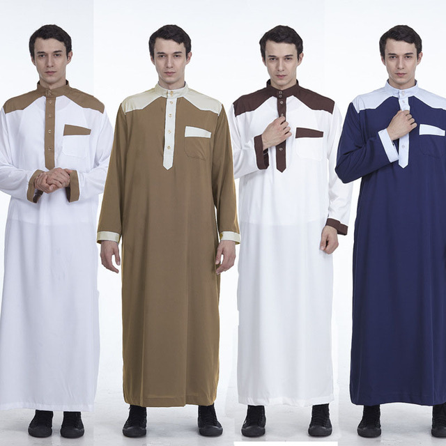 Men Muslim Robes Islamic Clothing Middle East Saudi Arabia Qatar