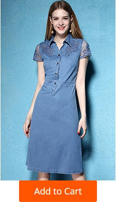 3 Denim Dresses Women