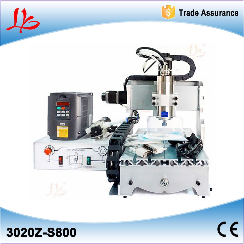 3 axis cnc router 3020 Z-S800 mini cnc milling machine with 800W water cooling spindle, ball screw