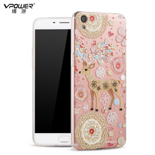 OPPO R9 Case Vpower 3D Relief Cartoon High Quality Soft TPU For Phone Back Covers With Screen Protector