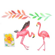 Summer  Flamingo Party Banner Luau Beach Hawaiian Tropical Jungle Party Birthday Party  Kids Party Supplies New Decorations flamingo party decor tropical hawaiian luau party supplies balloons paper cup plates straw first birthday party decorations kids