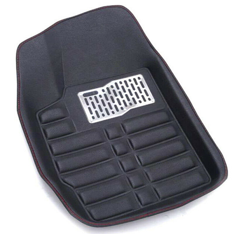 Auto 5 pièces universel PU tapis de sol de voiture noir fournitures de voiture tapis de sol en cuir tapis de sol avant arrière tapis tous temps