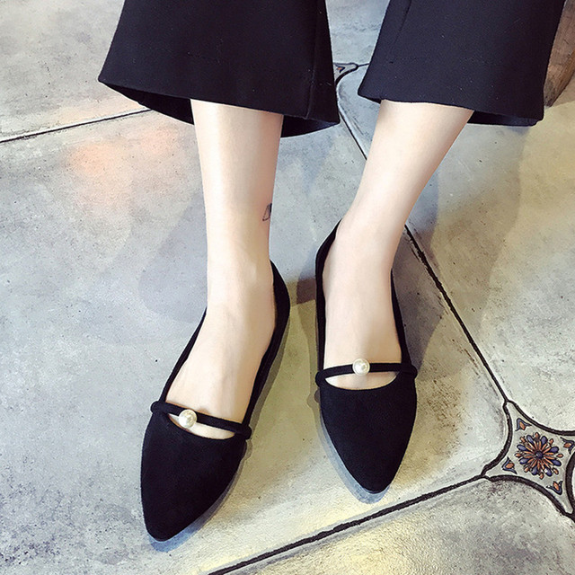 98199e63504c49 Women flat shoes spring and Summer simple comfort soft Flat bottom shallow  mouth shoes casual Student Shoes