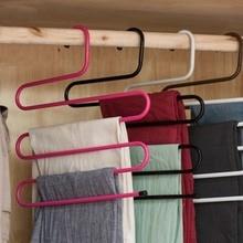 Doreen Box 5 ярусов железные стеллажи S форма брюки вешалка для одежды шкаф для хранения организации сушки вешалка 1 шт