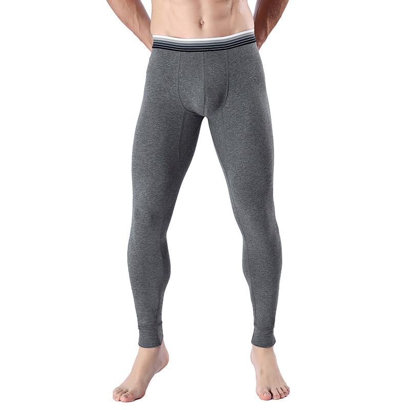 Men/'s Striped Print Long Underwear Underpants Slim Fit Pajama Trousers Leggings