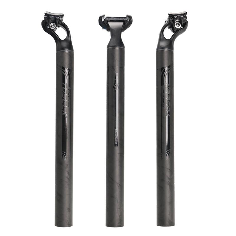NOVINKA TOSEEK Ultralehká letecká hliníková slitina Carbon Fiber Bicycle Seatpost Bike Seat Post Post 27.2 / 31.6mm Délka 380mm