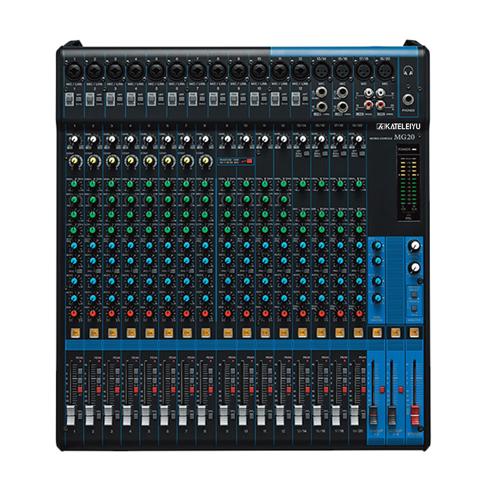 цена Audio mixing console MG20 analog mixer 20 road small stage professional audio console band commercial speech monitor the effect