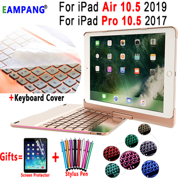 For iPad Pro 10.5 Air 10.5 Keyboard Case Rotatable Backlit BT 4.0 Bluetooth Keyboard for Apple iPad Air 10.5 Pro 10.5 Case Cover
