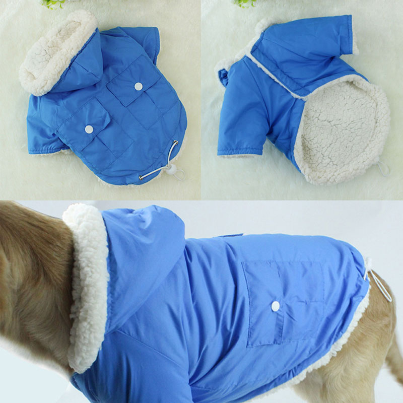Winter Warm Dog Clothing Coat Clothes for Small Dogs Pet Jacket Bulldog Chihuahua Pet Cl ...