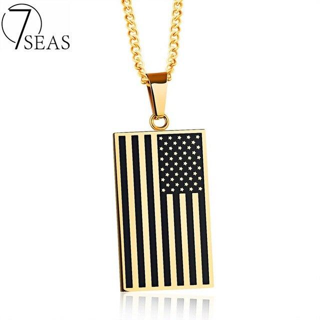 7 SEAS Männer Weiß/Gold Farben Edelstahl Patriots Amerikanische ...