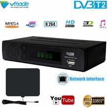 Телевизионная приставка DVB T2 8939 full HD 1080 P цифровой эфирный приемник DVB T2 MPEG 4 H.264 Поддержка MEGOGO Youtube PVR с ТВ антенна