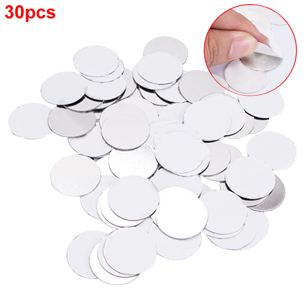 30Pcs Metal Sticker Tool Makeup Practical DIY Empty Professional Tightly Eyeshadow Home For Magnetic Palette Cosmetics Round