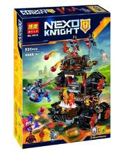 BLEA 10518 Nexus Knights General Magmar's Siege Machine Of Doom Building Blocks Minifigure Toy Compatible With Legoe 70321