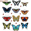 New Qualified 2016 Hot New Landscaping Decoration Heart Shaped Stickers 12 Butterfly Stickers  Levert Dropship dig6427