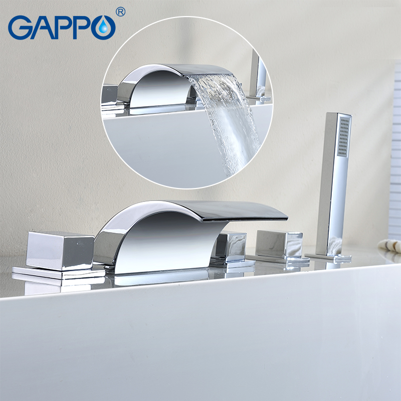 GAPPO bathtub faucet bath shower Bathroom Shower Faucet tap set waterfall bath faucet mixer robinet banheira faucet gappo classic chrome bathroom shower faucet bath faucet mixer tap with hand shower head set wall mounted g3260