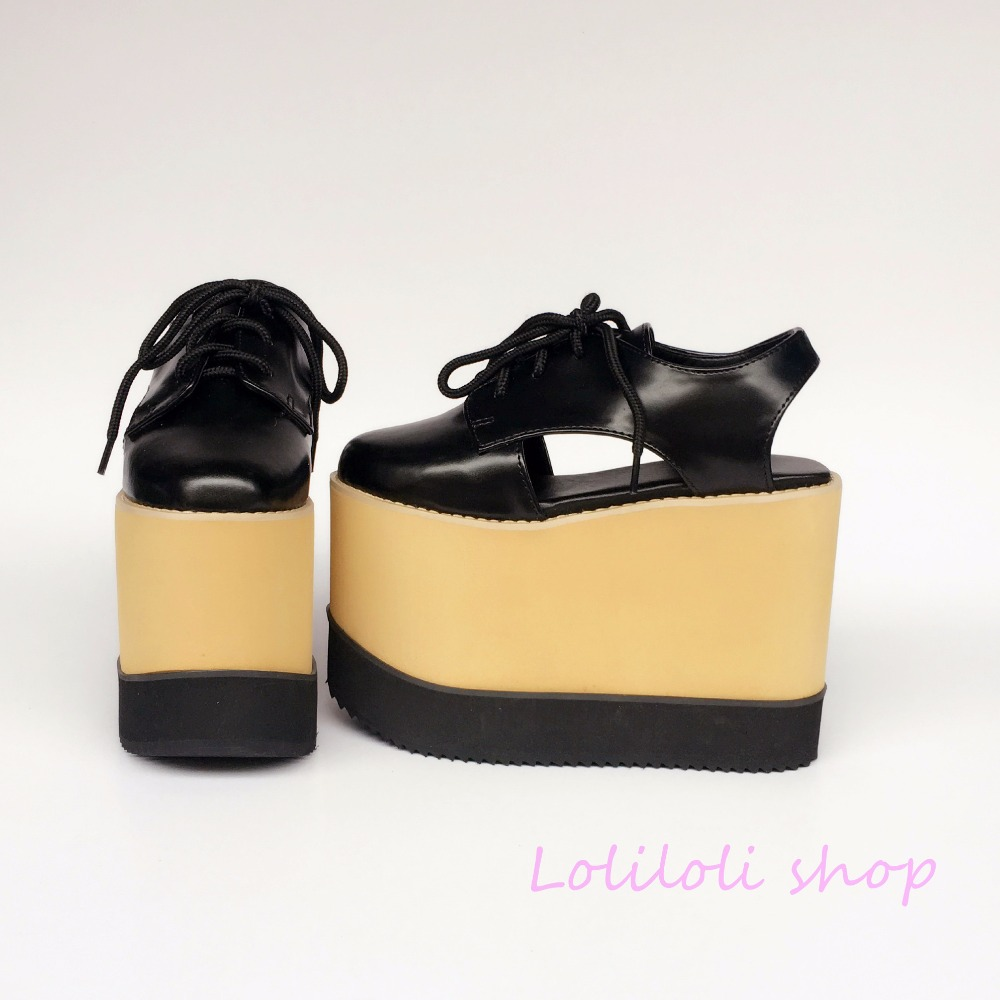 Diseño Loliloli De Japonés Plataforma Zapatos Dulce Multiple Negro Yoyo Sandalias Tamaño Princesa Super Alta Silenciado An7521 Gran Lolita HBwpqYxwA