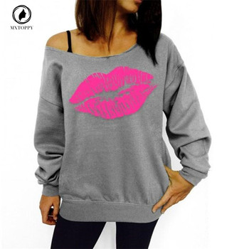 Lip-Print-Off-Shoulder-Long-Sleeved-and-Loose-Pullovers-Hoodies-1