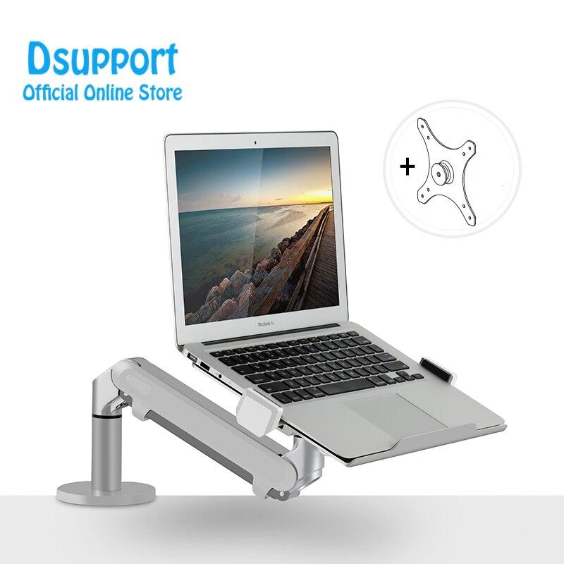 Double usage pour support de moniteur et support de bureau d'ordinateur portable support de TV à ressort à gaz à bras unique réglable pour OZ-1S de moniteur LCD jusqu'à 32