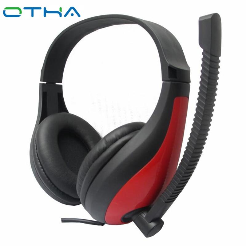 Otha Ретро-наушники Стерео-игровая гарнитура Gamer Casque с микрофоном для компьютера / телефона / ноутбука