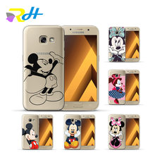 Cobertura TPU macio para Samsung Galaxy Caso Mickey Minnie para Samsung Galaxy S9 S8 S7 Borda S8 S9 Plus J3 j5 J7 2016 2017 Coque Estojo(China)