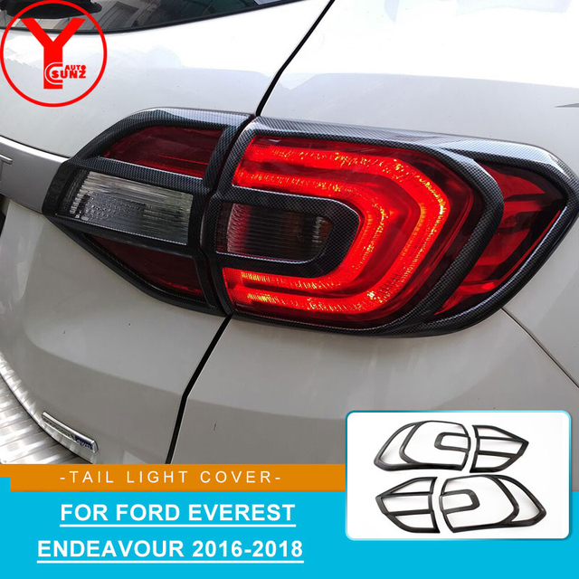 2016 Carbon Rear Tail Light Cover For Ford Everest Endeavour 2017