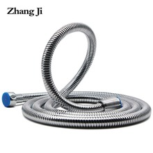 Shower hose 1.5m High quality Stainless steel Bathroom accessories intensive plumbing hoses Soft durable bath water hose ZJ100 bathroom stainless flexible hose silver hand shower hose 1 5m 2 0m bath water inlet pipe plumbing hoses tuyau de douche