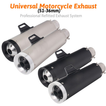 Universal Motorcycle Exhaust 51mm 61mm Pipe Escape Modified MotoStainless Steel Muffler For benelli trk 502 msx125