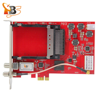100 TBS Card TBS6910 DVB S2 Dual Tuner Dual CI PCIe Card Watching And Recording Satellite