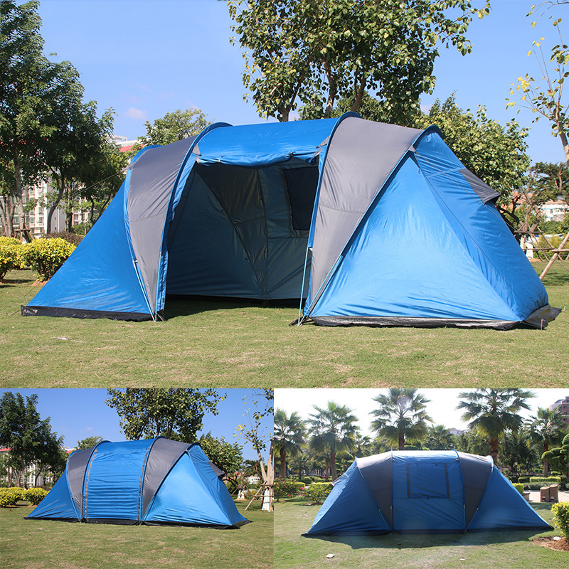 COOLWALK 2018 Outdoor Camping Tent 2+2 Person + Living Room with Front Sun Canopy Four-Season Waterproof Hiking Family Tent outdoor camping hiking automatic camping tent 4person double layer family tent sun shelter gazebo beach tent awning tourist tent