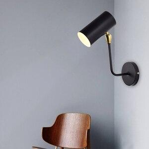 Image 3 - مصباح حائطي قابل للتعديل من الحديد باللون الأسود والذهبي للشخصية الإبداعية الحديثة الحد الأدنى لغرفة المعيشة وغرفة النوم والدراسة في الممر بجانب السرير