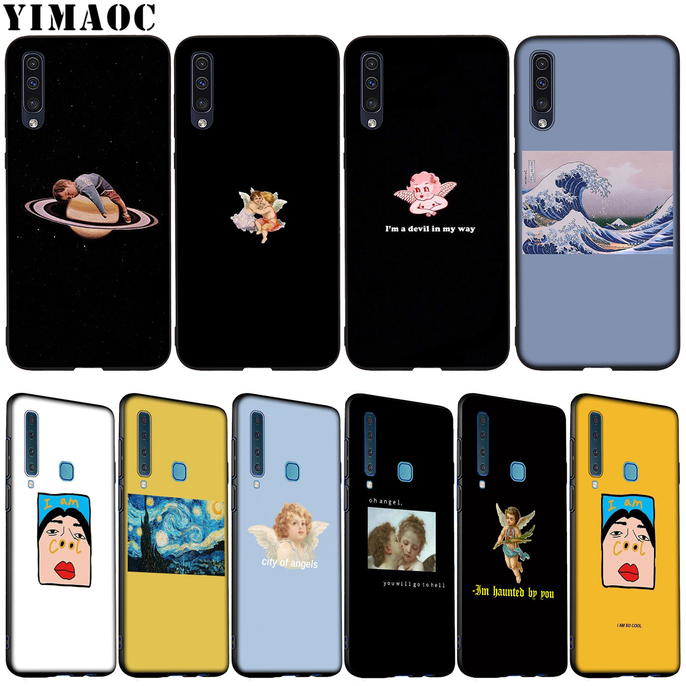 YIMAOC Sculpture Art Mona Lisa Soft Silicone Case for Samsung Galaxy A70 A60 A50 A40 A30 A20 A10 A10S A20S A30S A40S A50S Cover image