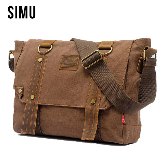 Men s Casual Canvas Messenger Bag Strap Casual College Shoulder Bags for Men  Crossbody Chest Travel Bags Male Bolsa HQB2036 911ed7326286a