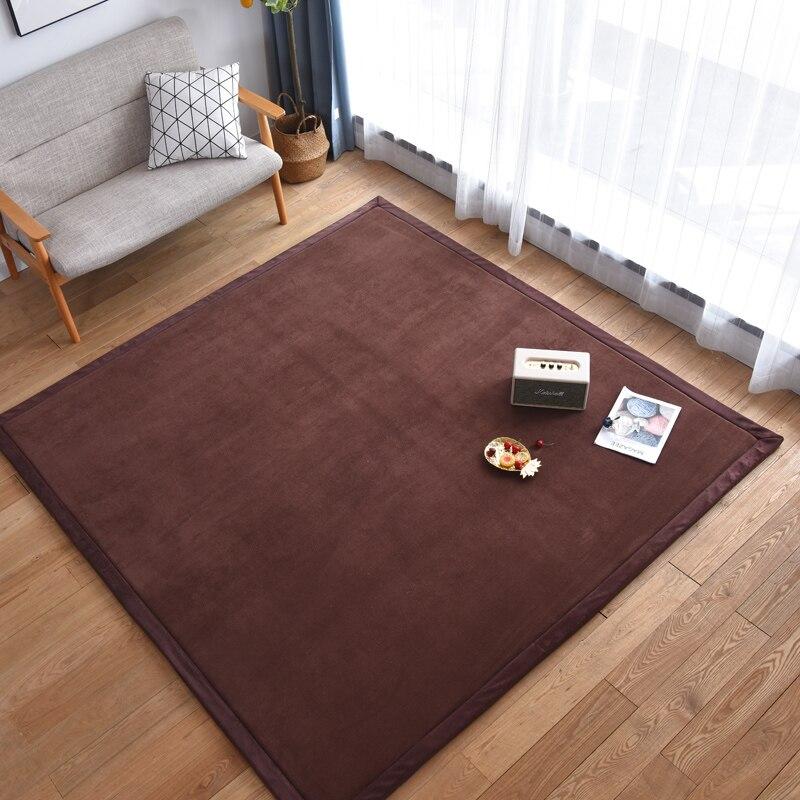 Nouveauté tapis épais en molleton de corail tapis tatami salon chambre tapis enfants tapis rampant bébé chevet tapis rectangulaire