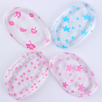 10Pcs Soft Silisponge Pink Blue Flower Star Leaf Jelly Powder Puff Silicone Gel Sponge Cosmetic Foundation