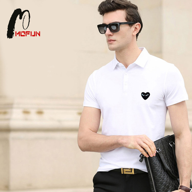 Three Color Play Cotton Pure Polo Shirts Turn-down Shirt With Embroidery Camisa Polos Homme